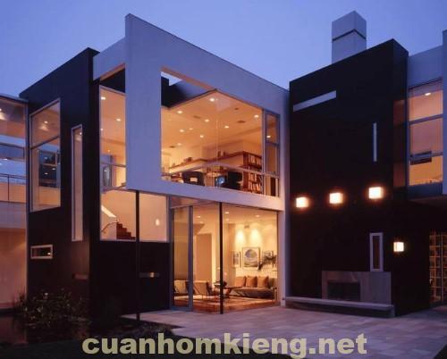 Ngôi nhà sáng rực nhờ kính cường lực đẹp bền