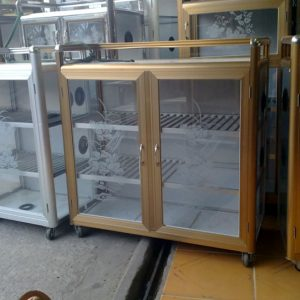 Làm tủ nhôm kính đựng chén bát giá rẻ tại TP.HCM